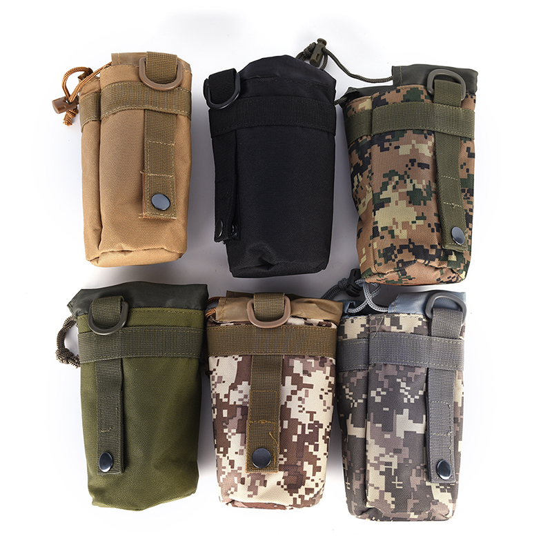 Molle Kettle Holder Pouch EDC Outdoor Water Bottle Bag Cup Sleeve Military Pouch