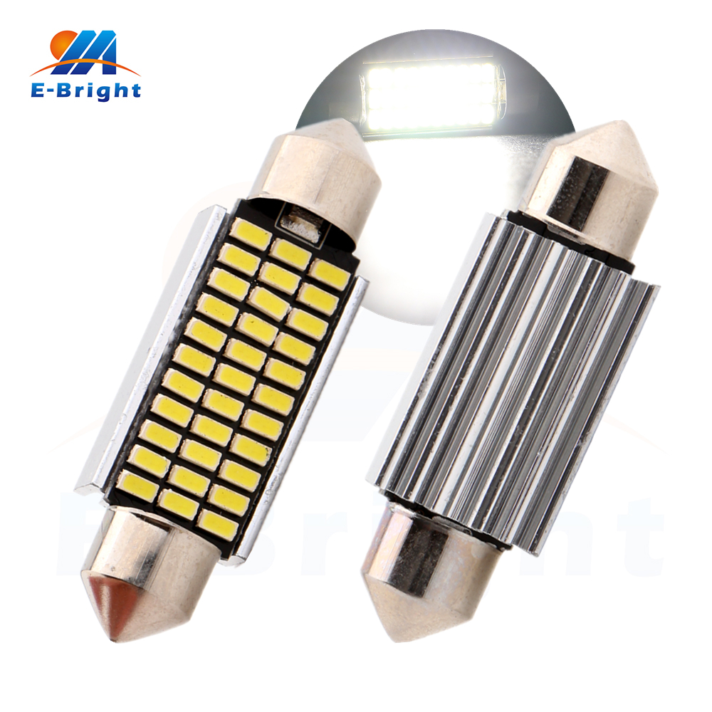 4-200pcs 41mm Festoon C5W Canbus 3014 33 SMD LED Bulb Light Pate Number Light Reading Light Cars Lamp Signals 12V Free Shipping