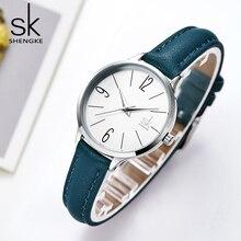 цены Shengke new watch women Casual Leather Female's Watches Girl Wristwatches Japanese Quartz Clock Relogio Feminino Reloj Mujer
