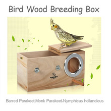 2015 NEW sell bird breeding Nest Box Wood  Parrot Cage Fitting Nesting Lock large wholesale cheapest