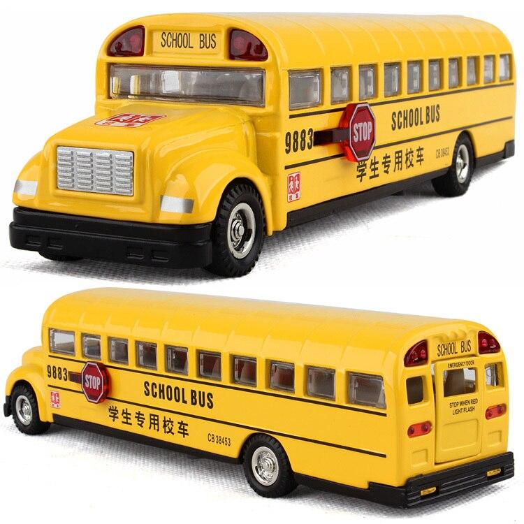 Rmz alloy model car toy car school bus big school bus car acoustooptical model