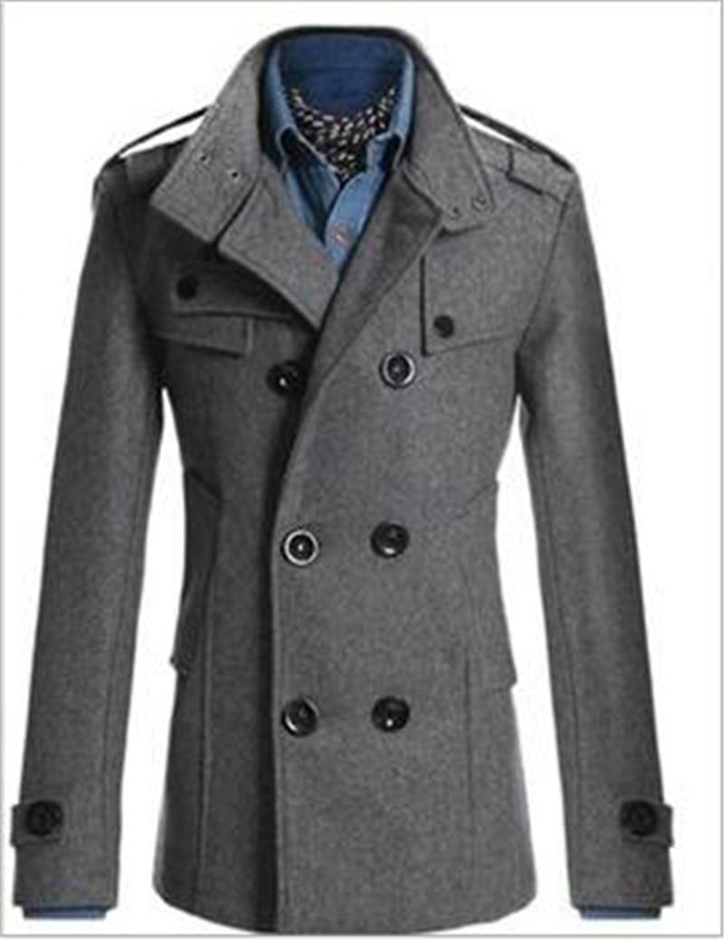 Mens Military Style Pea Coat | Fashion Women's Coat 2017