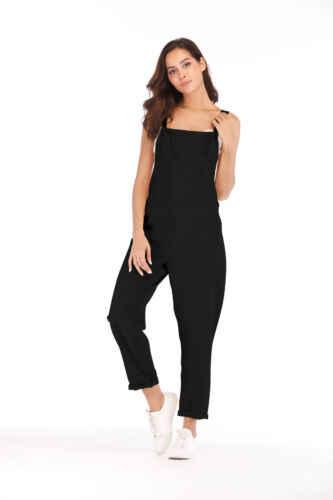 Mujeres sin mangas Boho mono Romper verano Clubwear pantalones de pierna ancha Vacaciones verano Playsuit holgado bolsillo general trajes