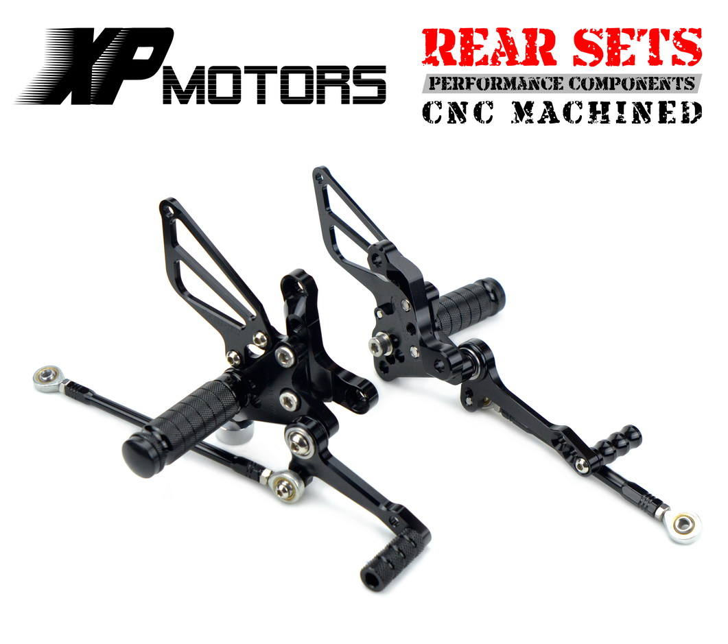 NICECNC Motorcycle Adjustable Rearset Rear Foot Pegs Footrest Kit For Ducati 1098 R Bayliss LE 1098R/S 1198 S R 848 EVO тюнинг фар мотоцикла 848 1098r 08 10 led