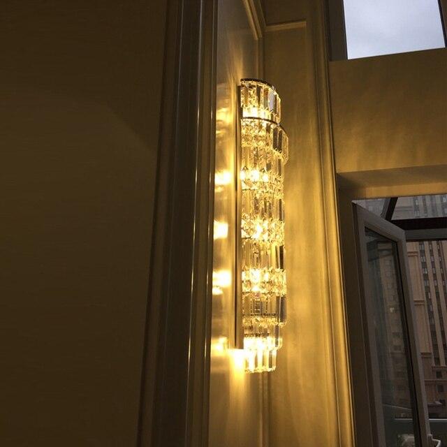 Us 2890 15 Offled Oświetlenie Do Sypialni łazienka Kryształowe Kinkiety ścienne światła Do Domu ściany Oświetlenie Do Sypialni Hotel Oświetlenie