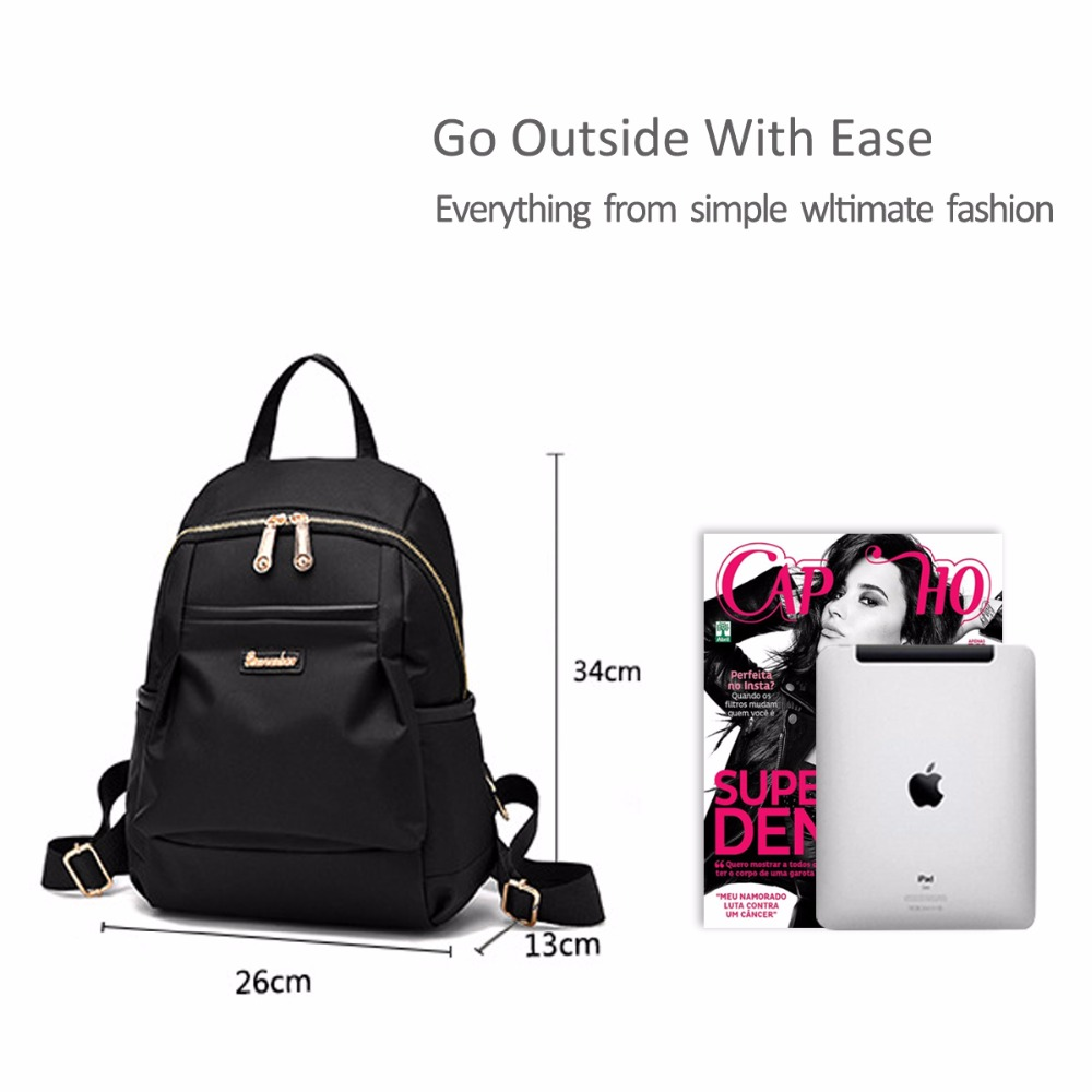f77f029e19a2 NICOLE DORIS New Girl Backpack School Travel Bags Shoulder Bag Shopping Bag  Simple Versatile Waterproof Oxford-in Backpacks from Luggage   Bags on ...