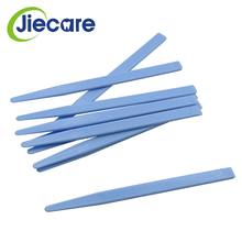 10 PCS/Pack Dental Lab Dental Blue Alginate Plastic Mixing Plaster Spatula For Impression Material Dental Tools Free Shipping 6pcs high quality dental lab stainless steel perforated impression trays autoclavable for dental algginate impression material