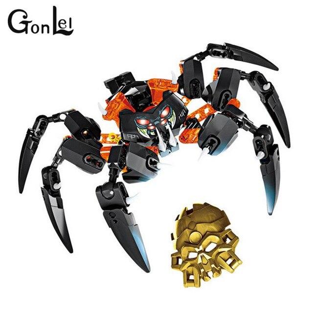 GonLeI nouvelle offre spéciale Bionicle charge d'araignées crâne XZS 708-4 blocs de construction jouets Action éclairer briques jouets