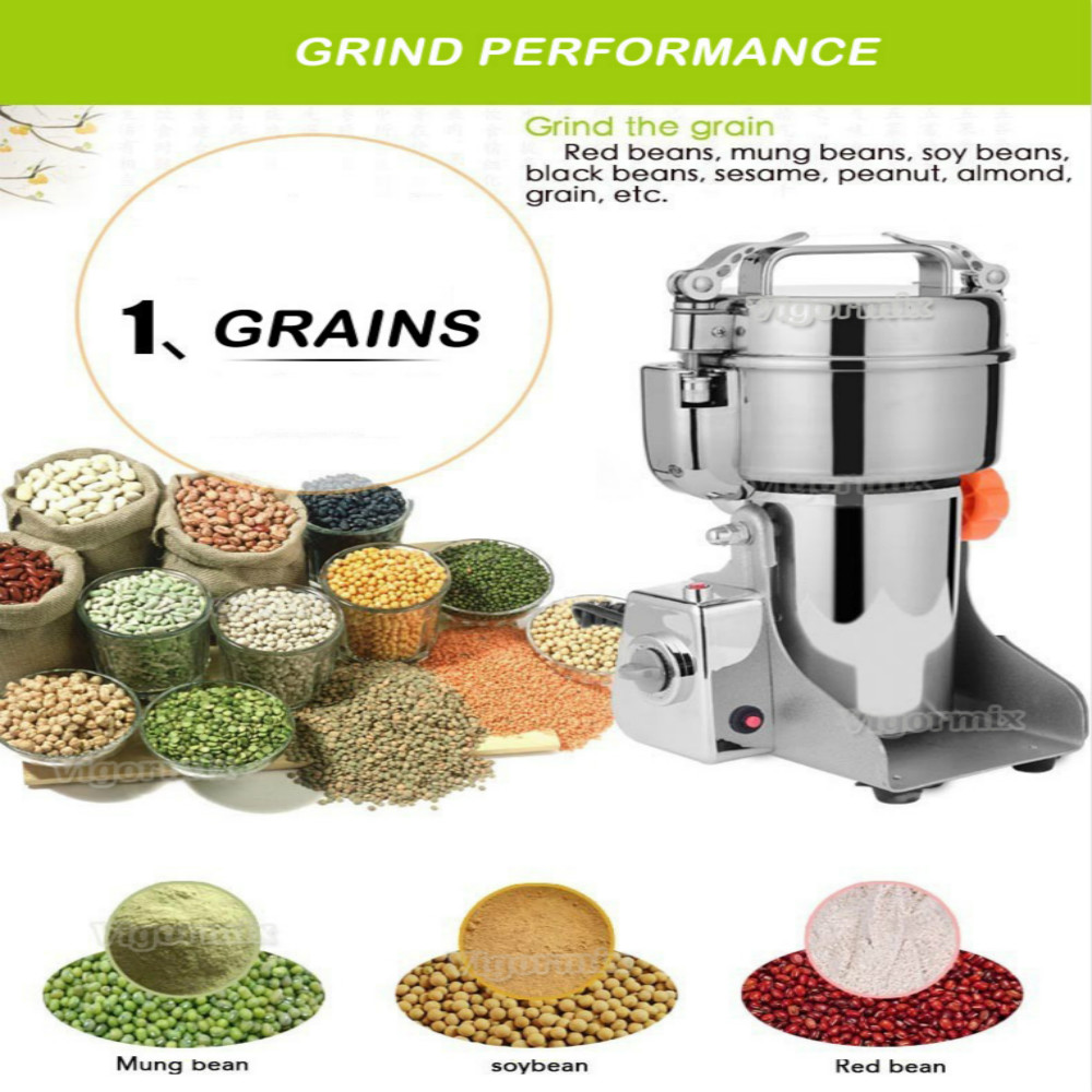 Foreign trade export 700G crusher Whole grains grinder Powder machine Medicinal grinder Dry grinder household stainless steel medicinal powder broken machine small superfine grinder whole grains bean milling blender