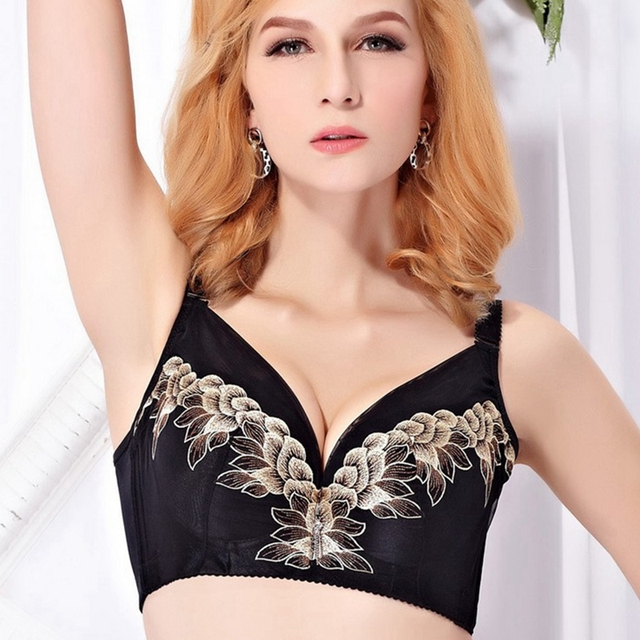 Quality embroidery large yards thin paragraph received Furu Sexy Lingeries Women bras plus size  lace  44CDE women's underwear
