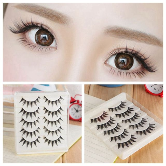 5 Pairs Women Japanese Serious Makeup False Eyelashes Long Thick Natural Beauty Eye Lash Extension DIY Cosmetic Fake Eyelashes 5