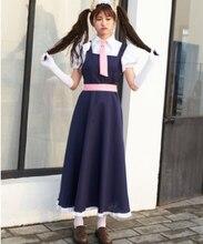 Larga azul maid costume for women anime maid cosplay japonés sissy maid cosplay de halloween traje de mucama