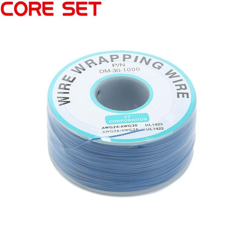 250 м/лот 30 AWG оберточный провод 10 цветов одножильный медный кабель Ok провод электрический провод для ноутбука Материнская плата PCB припой - Цвет: Blue