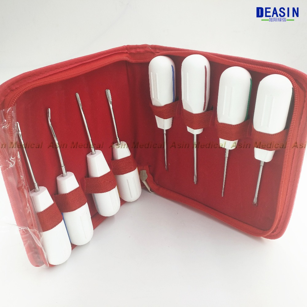 High Quality 8pc curved root elevator dentistry dentist dental instrument teeth whitening equipment dentista stainless steel soarday children primary teeth alternating transparent model dental root clearly displayed dentist patient communication