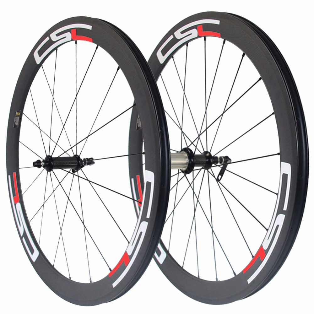 CSC Road bike wheelset 700C full carbon 50mm clincher 25mm width Powerway R36 Ceramic Bearing hub