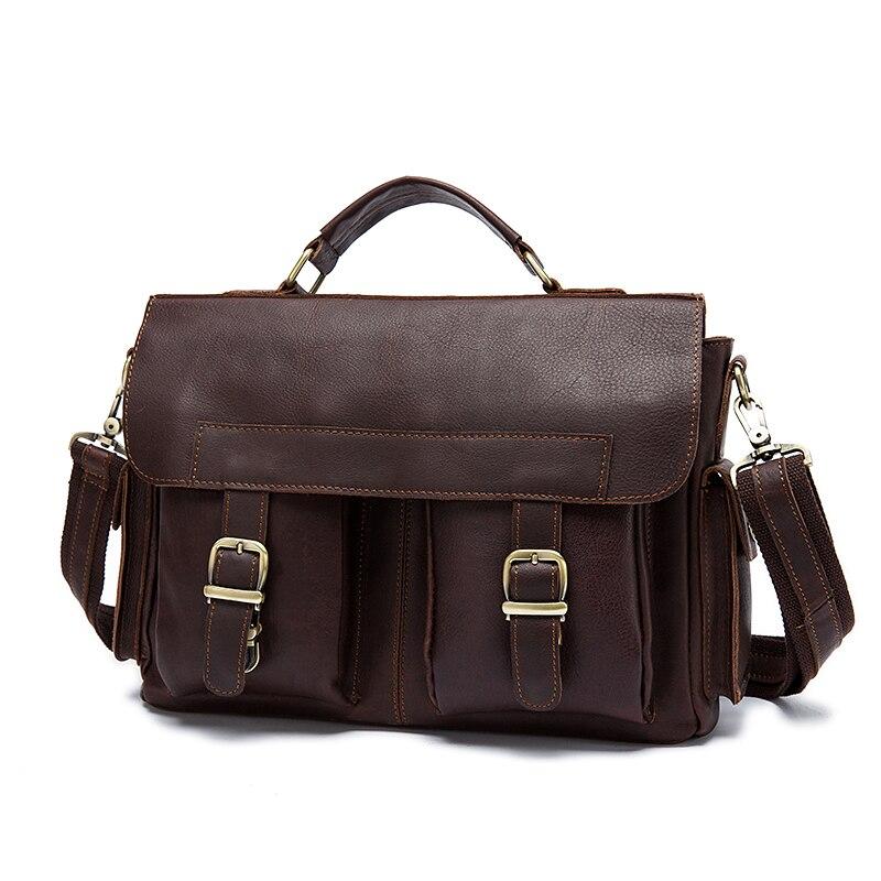 2019 Begrenzte Marrant Männer Tasche Aus Echtem Leder Aktentasche Herren Business Laptop Mann Crossbody Schulter Handtasche Echt Taschen 8408