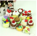 5pcs/lot The simulation model of plush cake,Baby toys Mobile phone pendant