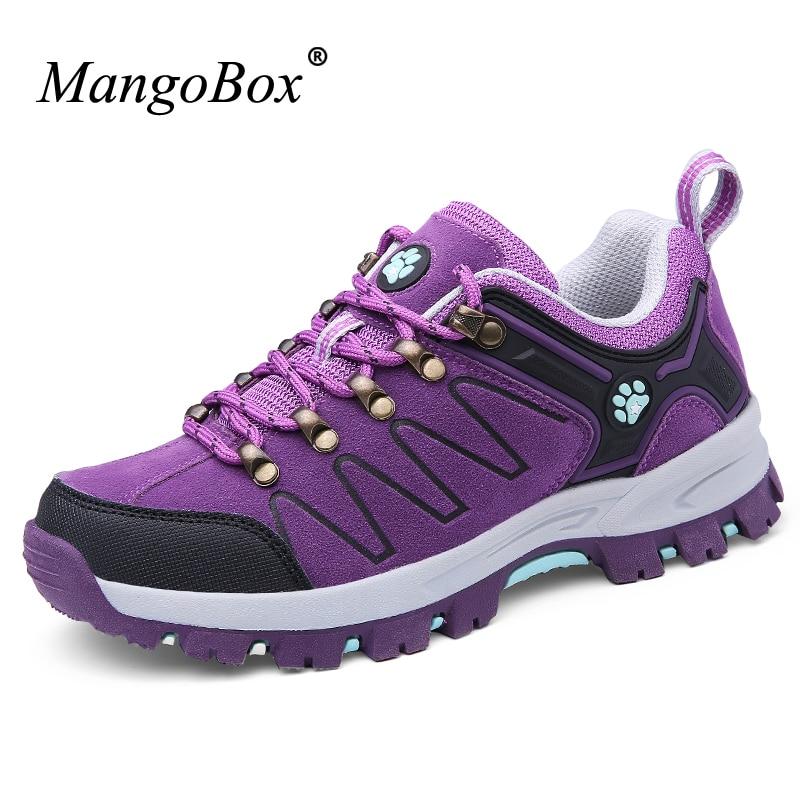 MangoBox Outdoor Shoes Women New Cool Trekking font b Hiking b font Shoes Purple Women Climbing