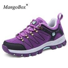 Mangobox открытый Обувь Новинки для женщин Прохладный треккинг Треккинговые ботинки фиолетовый Для женщин восхождение Обувь Для женщин удобные Mountain Ботинки женщина