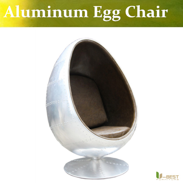 U BEST High Quality Aviator Egg Chair In Leather And Panelled  Aluminium,office Aluminum