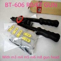 High Quality 12 Manual Rivet Gun Nut Heavy Hand INSER NUT Riveter Tool Mandrels M3 M4