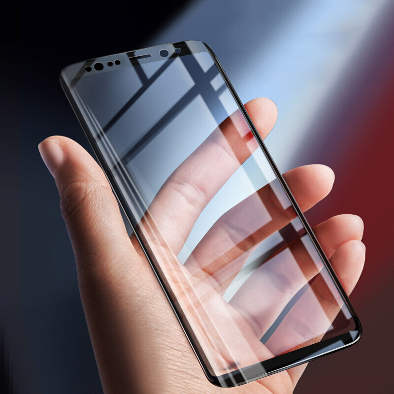 Yagoo For Samsung Galaxy S9 plus Screen Protector for Samsung Galaxy Note 8 Tempered Glass S9 S8 Plus 3D Full Cover edge black
