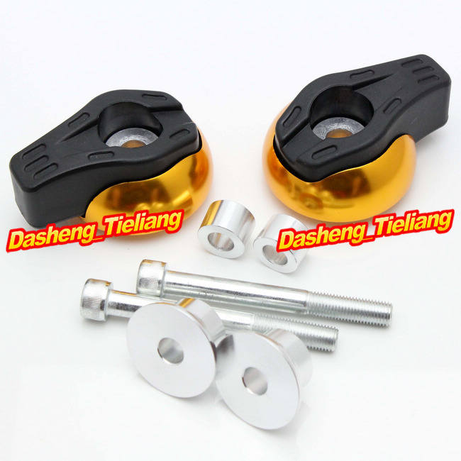 For Yamaha FZ6R 2009 2010 2011 2012 Frame Sliders Crash Pads Protector, Motorcycle Spare Parts Accessories, Gold Color motorcycle frame sliders crash engine guard pad aluminium side shield protector for kawasaki ninja zx6r 636 2009 2010 2011 2012