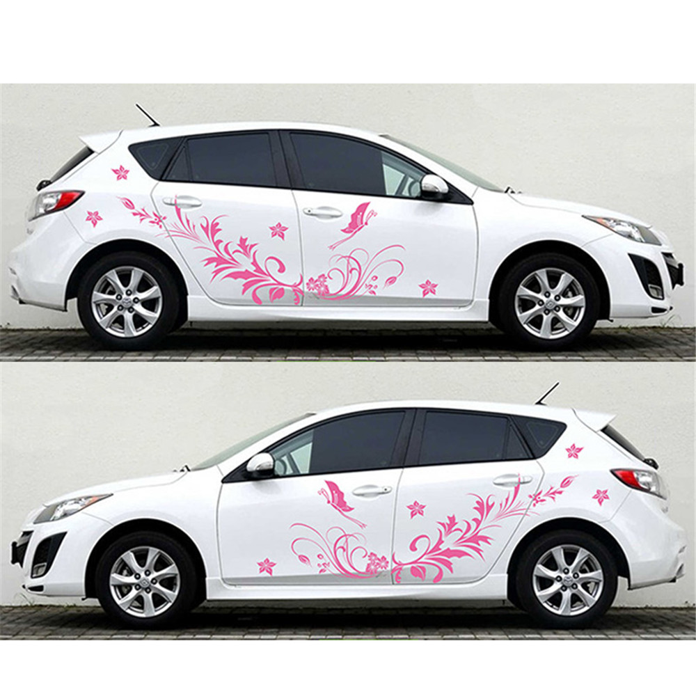 best quality waterproof auto modifield decal vinyl stickers natural flower vine dragonfly for. Black Bedroom Furniture Sets. Home Design Ideas