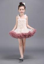Chirstmas Цветы девушки кружева платье Принцессы Детская Одежда Красный Блестками Кружева Детские Костюм Halloween Party Детская Одежда
