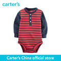 Carter's 1 pcs baby children kids Striped Henley Bodysuit 118G773, sold by Carter's China official store