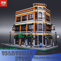 LEPIN 15017 4616Pcs Creator Starbucks Bookstore Cafe Model Building Kits Blocks Bricks Toys Gift