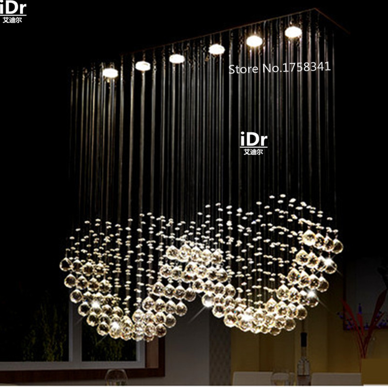 Modern minimalist restaurant lights fashion high quality double heart crystal chandelier lamp study lamp L100cm xW25cm xH100cmModern minimalist restaurant lights fashion high quality double heart crystal chandelier lamp study lamp L100cm xW25cm xH100cm