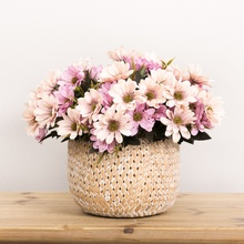 1 Uds. Flores artificiales de seda boda para mesa de casa pintura al óleo Vintage Z estilo Margarita jardín comedor ramo falso Oficina