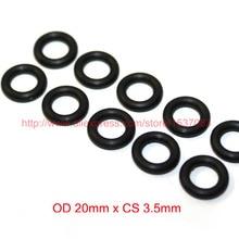OD20mm*CS3.5mm black NBR nitrile o ring o-ring oring sealing rubber cord