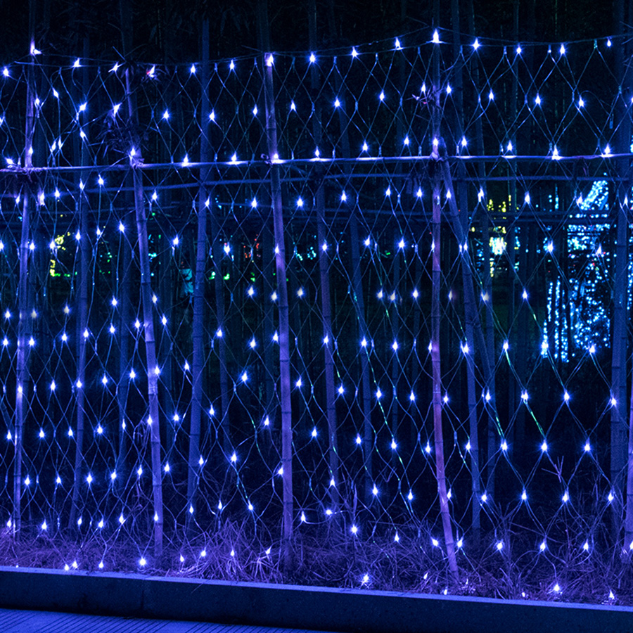 Thrisdar 6X4 M 880 LED extérieur LED de jardin filet maille LED chaîne fée lumière guirlande de mariage arbre de noël glaçon chaîne lumière