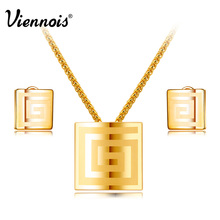 Yellow Gold Color Jewelry Set