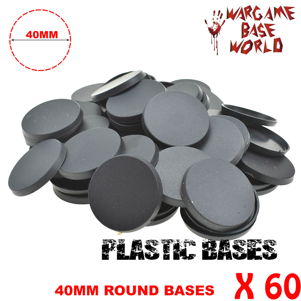 Heyyoucast- 60 X 40mm Round Plastic Bases For Wargames