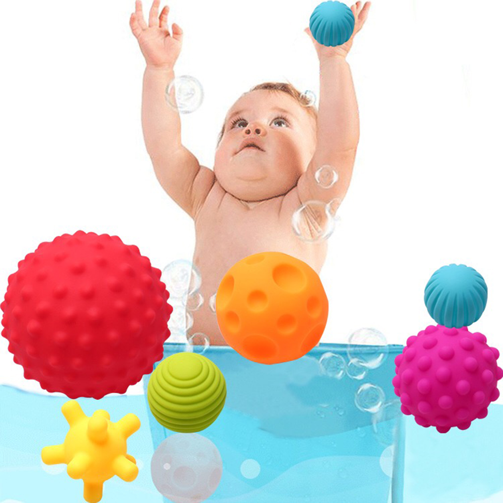 Baby Bath Toys For Children Soft Ball Rubber Toys Swimming Shower Educational Tub Toys In Bathroom Games Water Spraying Tool