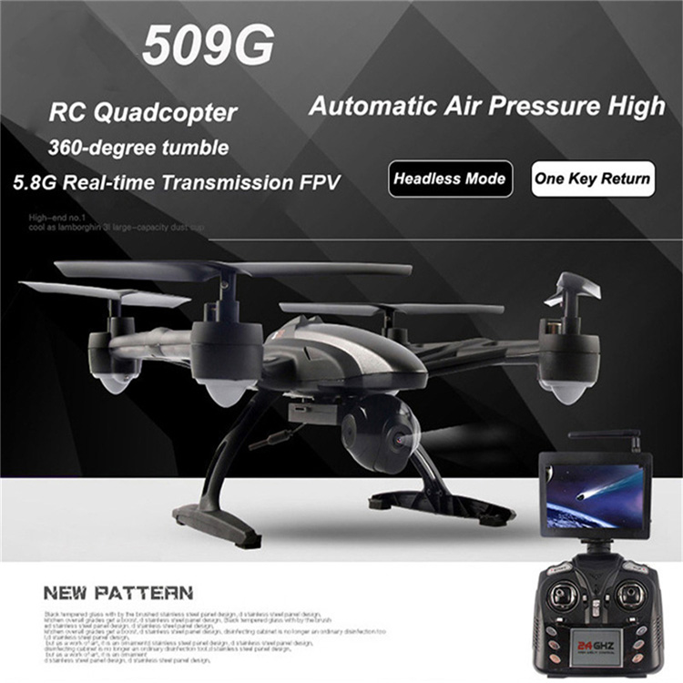 New Arrival JXD 509G rc Drone with Camera 6-axis Gyro Aircraft Radio Control rc Helicopter Remote Control Quadcopter original rc aircraft drone yd a9 2 4g 6 aixs gyro 4ch remote control helicopter quadcopter with 2mp camera vs jd509g rc drone