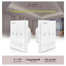 MiBOXER L1 0~10V single color led light lamp led Panel Dimmer;  Max 20mA/Channel Output AC100~240V Wall-mounted 1-Channel
