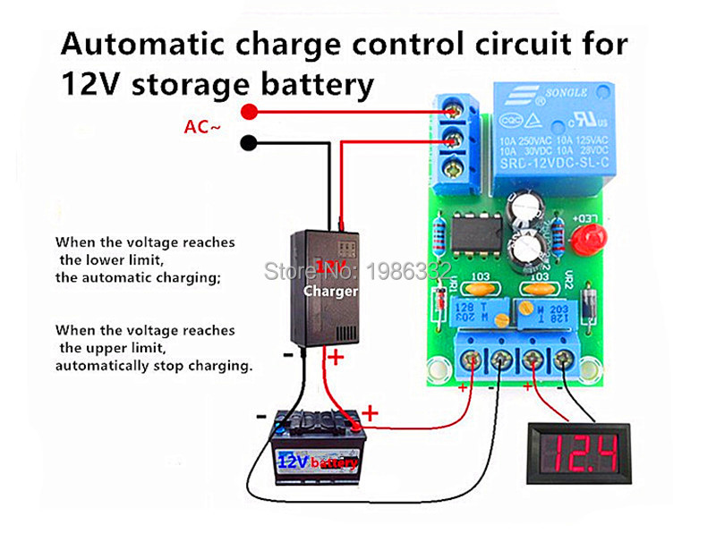 12V Charger Module Power Supply Automatic Controller Charging Protection Board