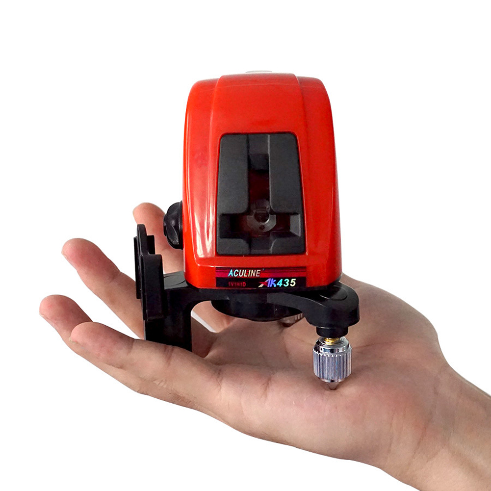 1Pcs AK435 360 Degree Self-leveling Cross Laser Level 2 line 1 point  Rotary Horizontal Vertical Red Laser Levels Cross laser a8827d 360 degree self leveling 3 lines 3 points rotary horizontal vertical red laser levels cross laser line laser highlights