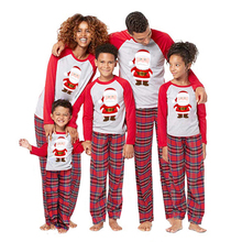 Christmas Family Matching Pajamas Set Women Mens Kids Xmas Sleepwear Nightwear Santa cartoon T shirt and pants leggings Outfits