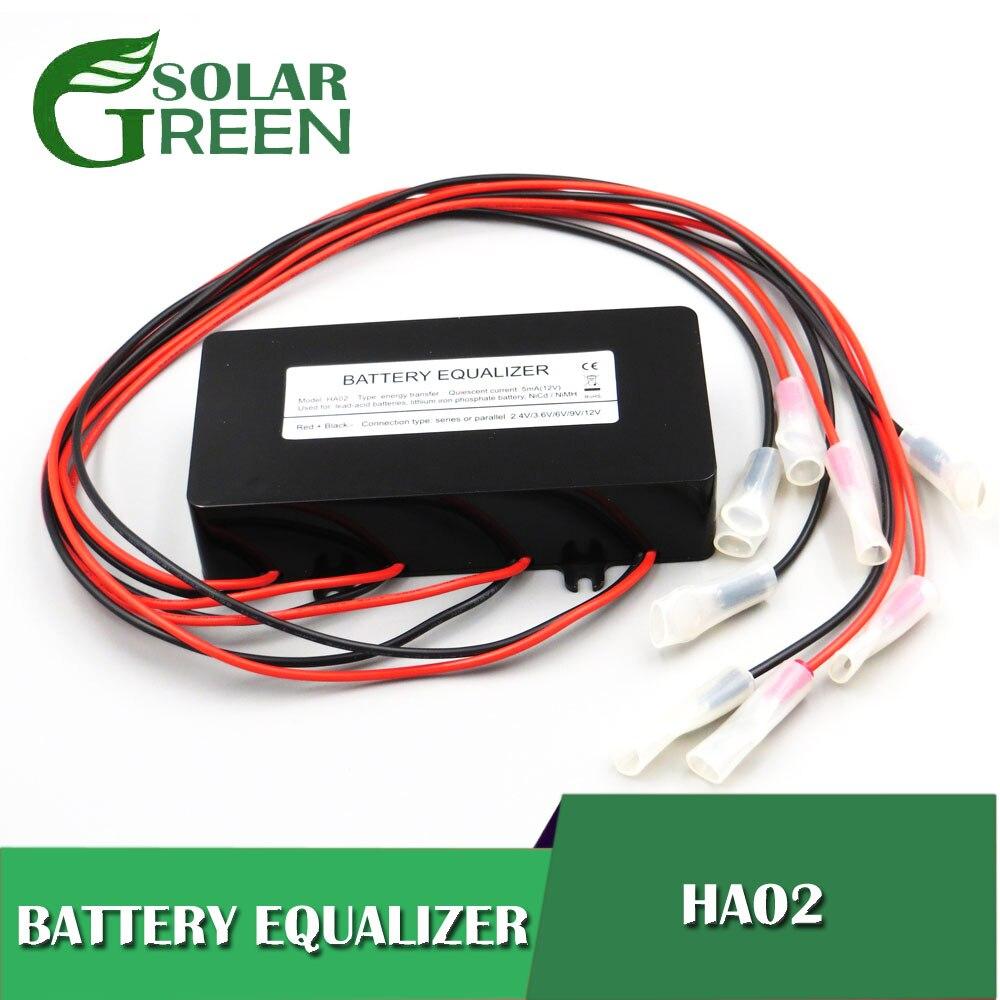 Fonte de alimentação ha02 baterias tensão equalizador balanceador chumbo ácido bateria conectada paralela série 2 3.2 3.7 6 12 24 48 96 120 v