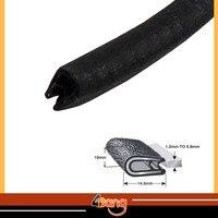 315 8Metres 10mmx14.5mm Pillar BLACK Flexible U Shape Car Window Door Protector Rear Hatch Door Seal Lok RV Rubber Edge Trim#04