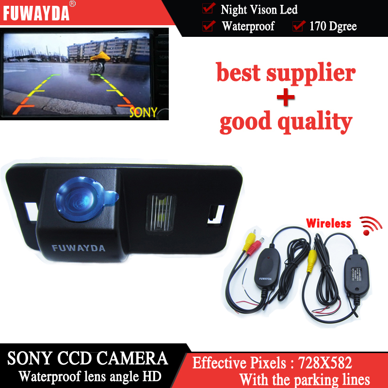 FUWAYDA Wireless SONY CCD Car Rear View Parking Back up Kit CAMERA for BMW 1/3/5/6 Series X3 X5 X6 E39 E53 E82 M3 E46 E70 HD for bmw 1 3 5 x1 x5 x6 e46 e82 e88 trunk handle oem car rear view camera reverse camera hd ccd rca ntst back up parking camera
