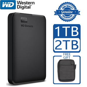 Image 1 - WD Elements Portable External Hard Drive Disk HD 1TB 2TB High capacity SATA USB 3.0 Storage Device Original for Computer Laptop
