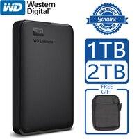 WD Elements Portable External Hard Drive Disk HD 1TB 2TB High capacity SATA USB 3.0 Storage Device Original for Computer Laptop