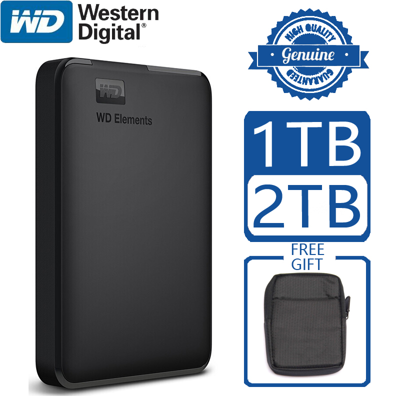 WD Elements Portable External Hard Drive Disk HD 1TB 2TB High capacity SATA USB 3.0 Storage Device Original for Computer Laptop title=