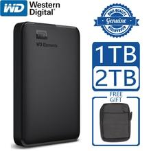 WD العناصر المحمولة قرص صلب خارجي القرص HD 1 تيرا بايت 2 تيرا بايت عالية السعة SATA USB 3.0 جهاز تخزين الأصلي للكمبيوتر المحمول